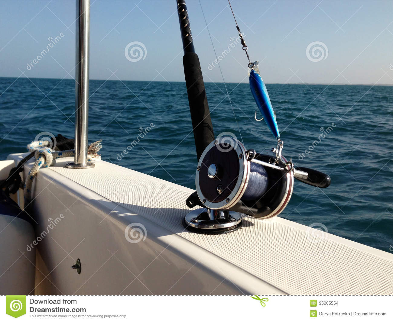 Big game fishing reels and rods stock photo image 35265554 for Big game fishing