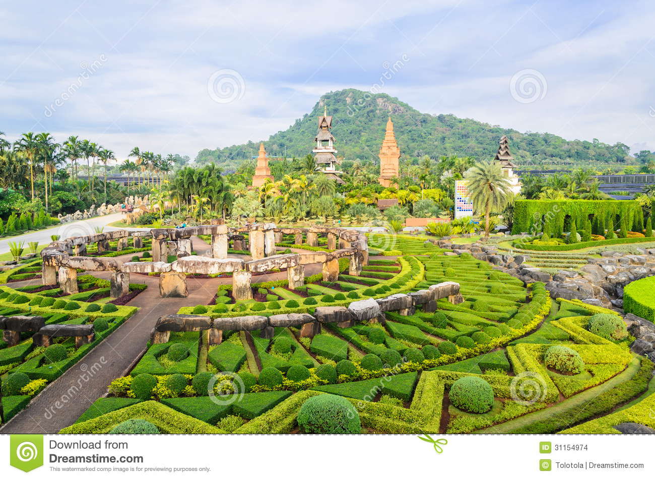 Big Garden In Thailand Stock Images Image 31154974