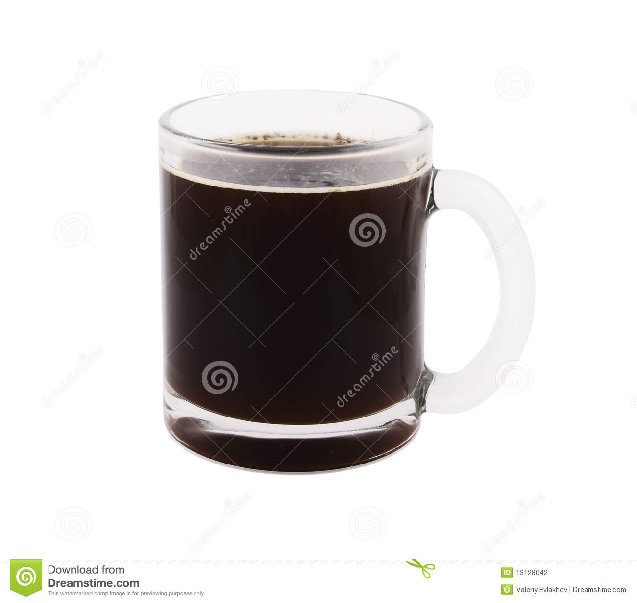 big glass cup of coffee isolated stock photo image 13128042. Black Bedroom Furniture Sets. Home Design Ideas