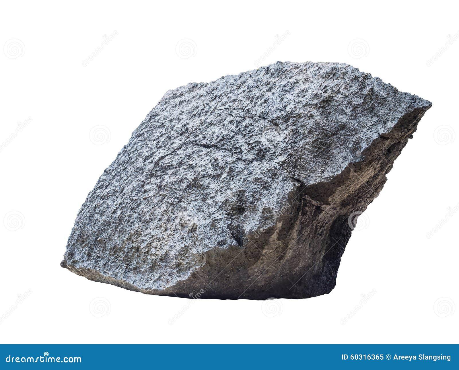 Large White Granite Rock : Big granite rock stone isolated on white stock photo