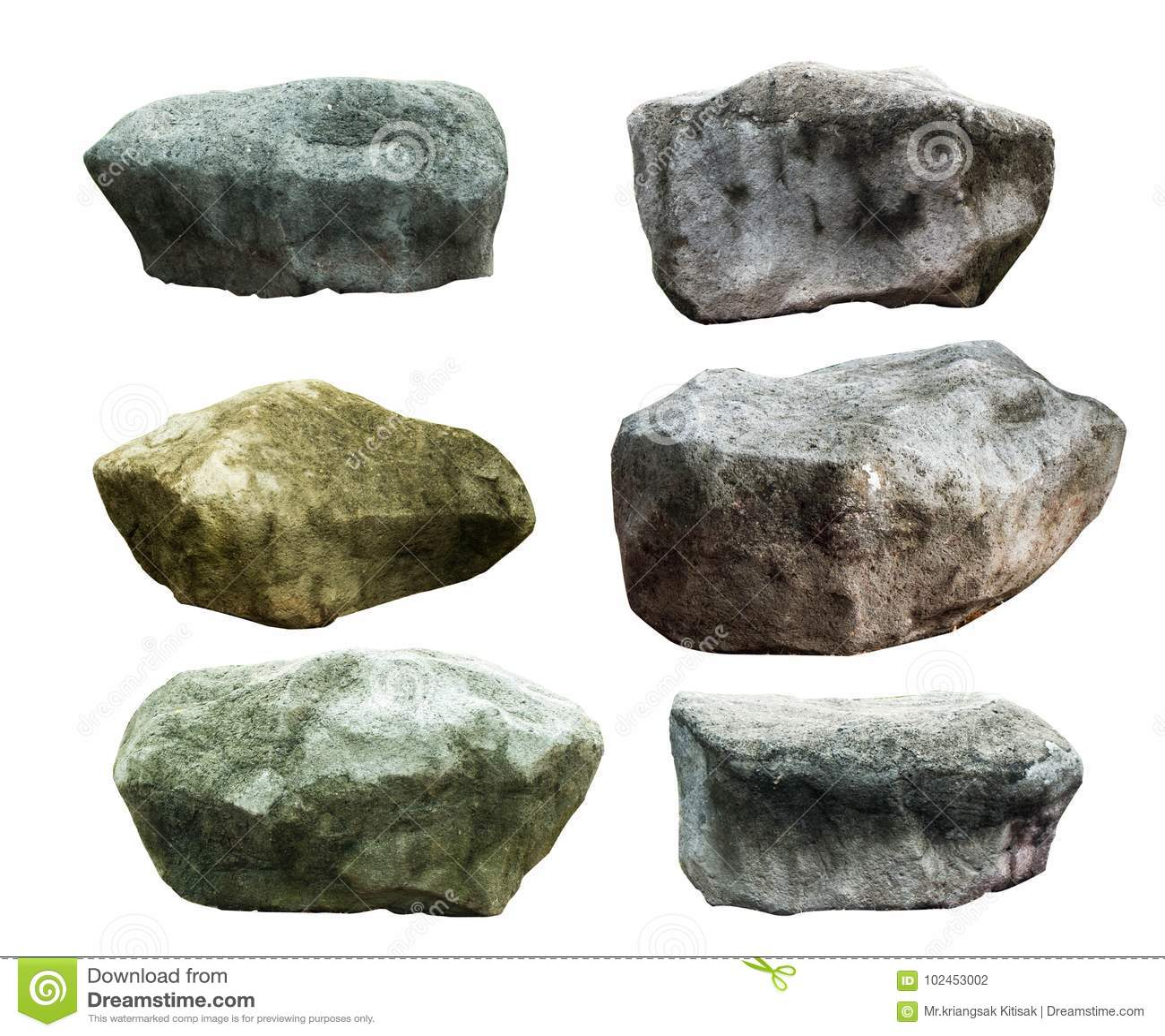 Big granite stones
