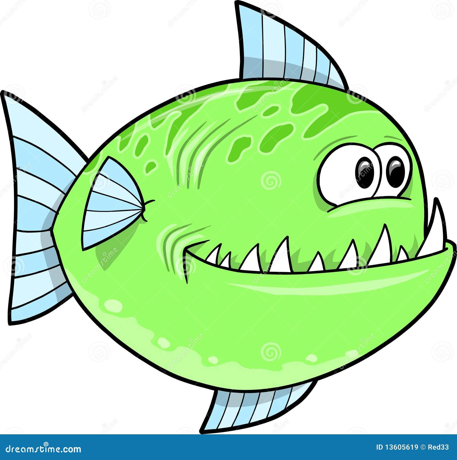 Big Green fish Vector stock vector. Illustration of life - 13605619