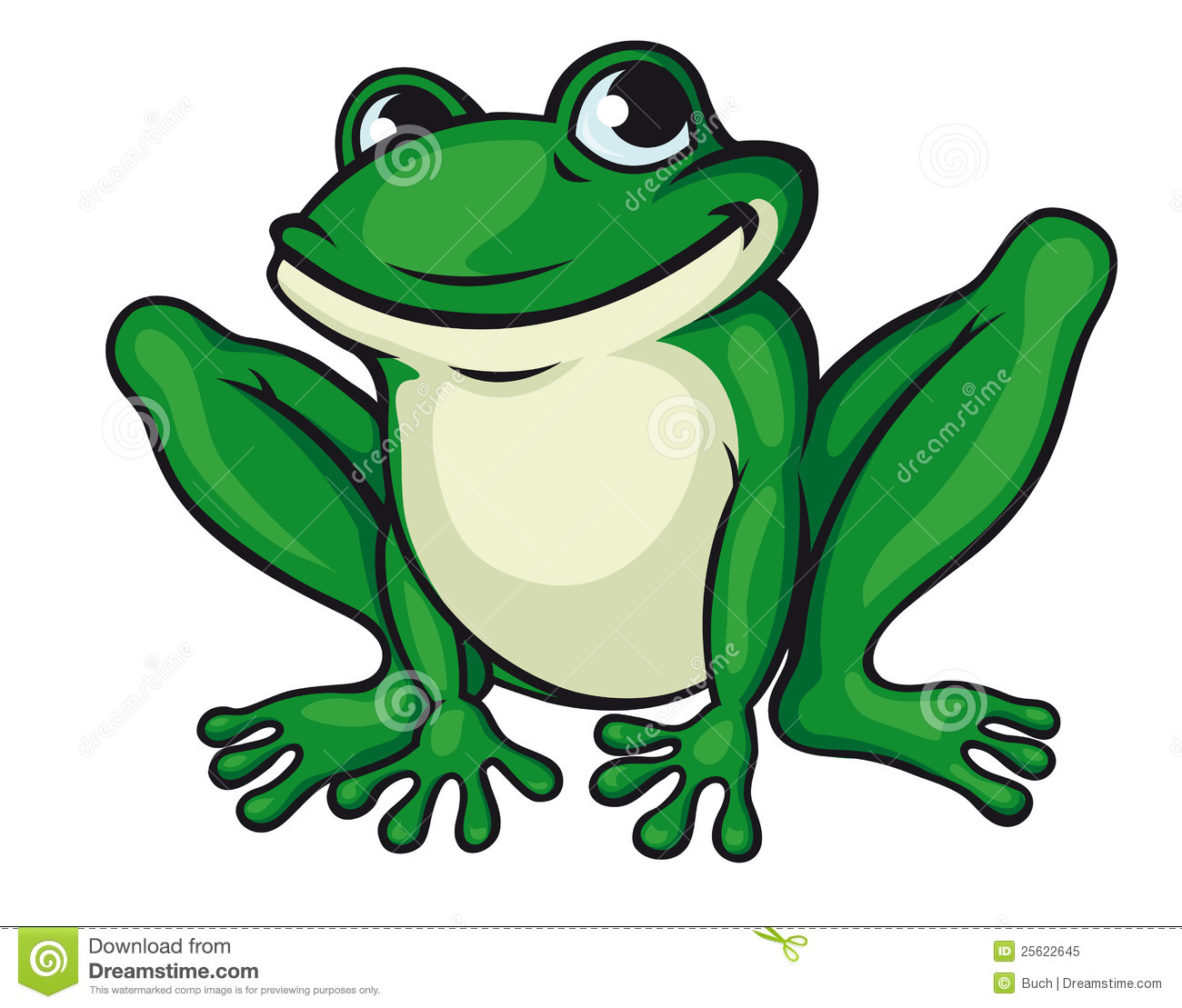 Big Green Frog Royalty Free Stock Photo Image 25622645