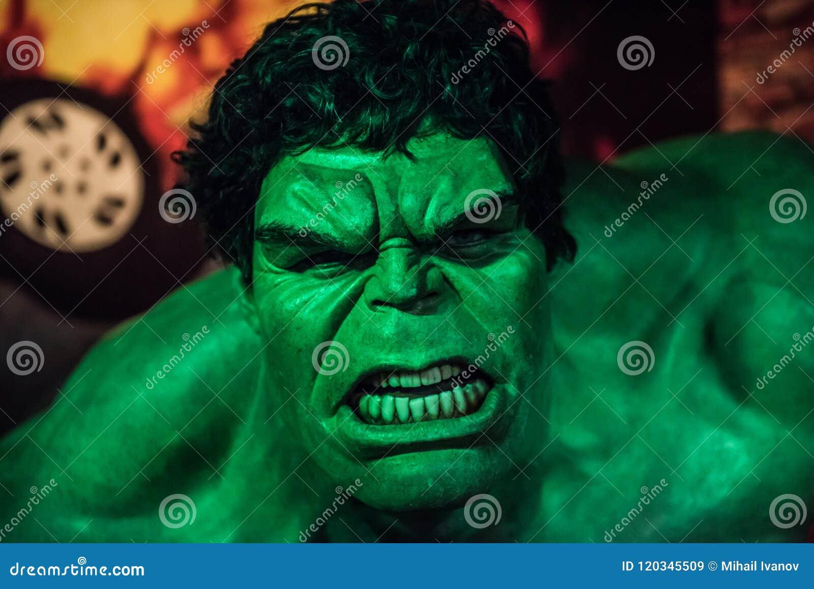 The Hulk, Wax Sculpture, Madame Tussaud Editorial Stock Image
