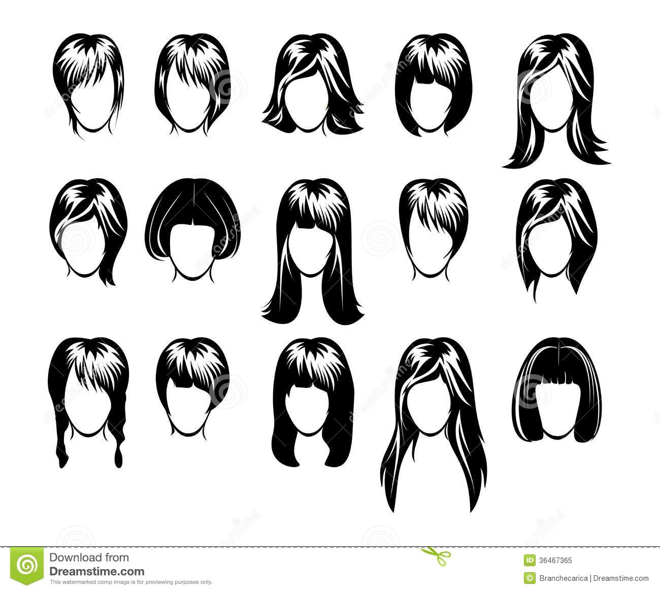 big hairstyle collection royalty free stock photo   image