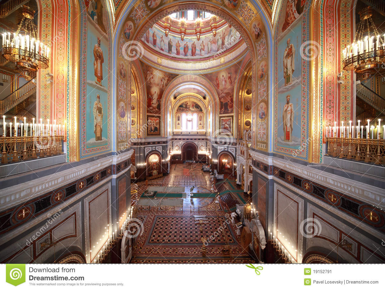 Big Hall Inside Cathedral Of Christ The Saviour Stock