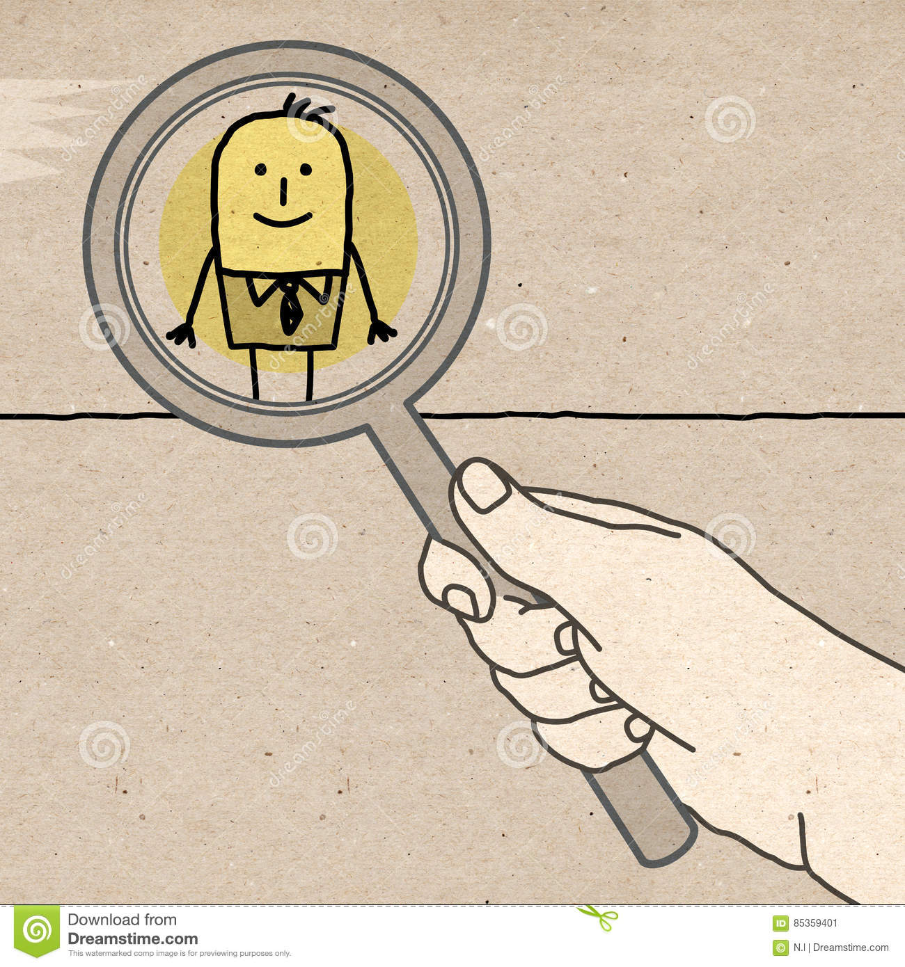 Big Hand - supervising and magnifying