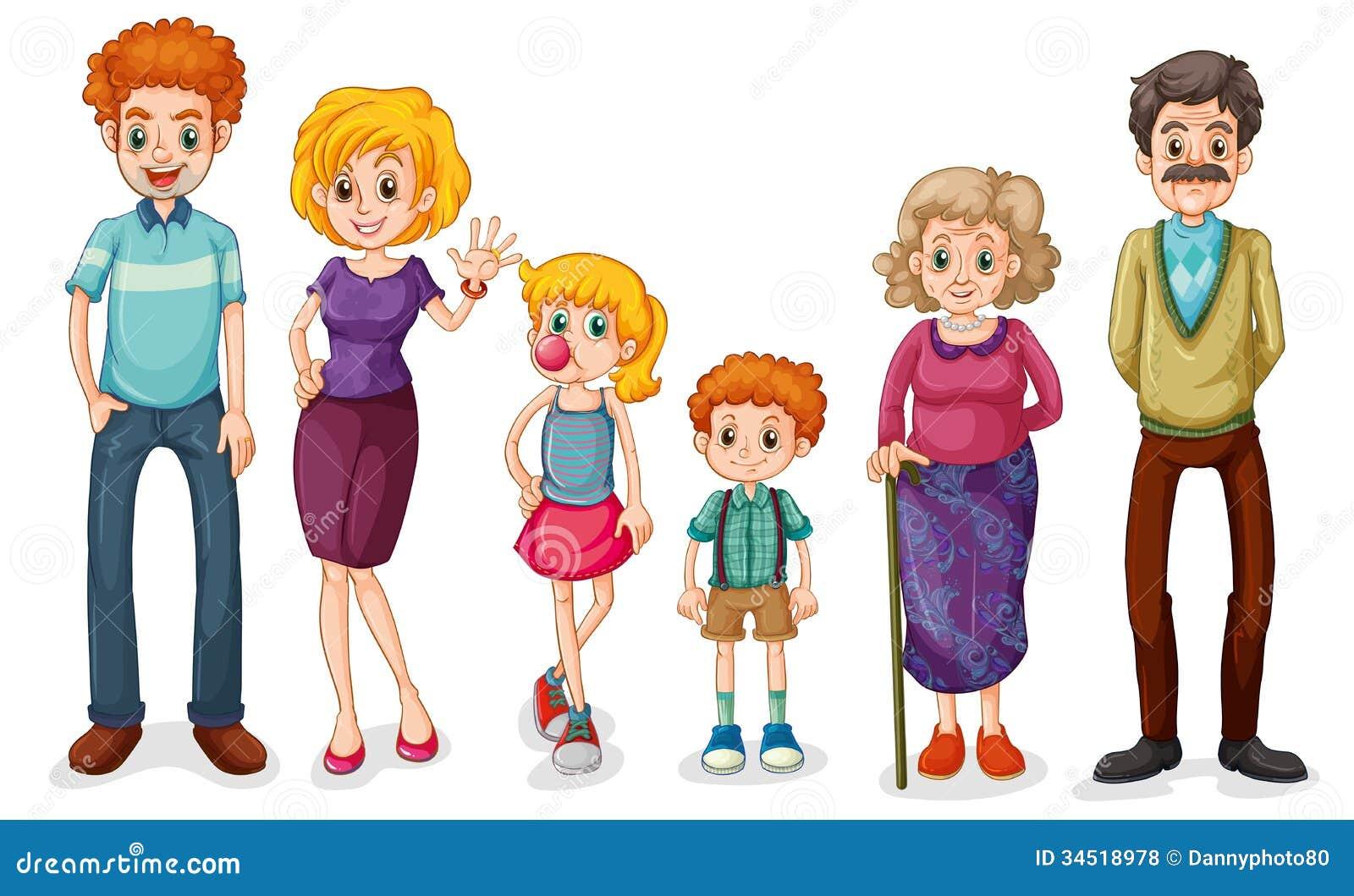 Big Happy Family Royalty Free Stock Photos - Image: 34518978