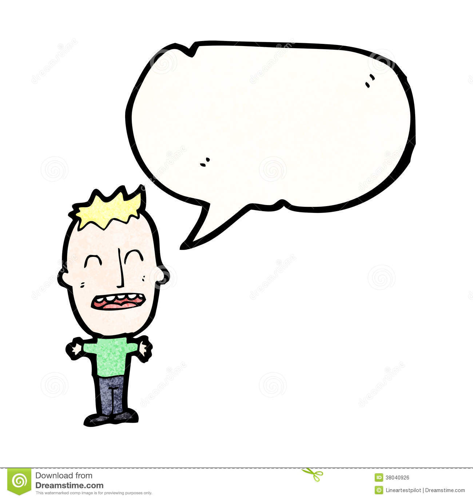 Cartoon Characters With Big Heads : Big head boy cartoon royalty free stock image