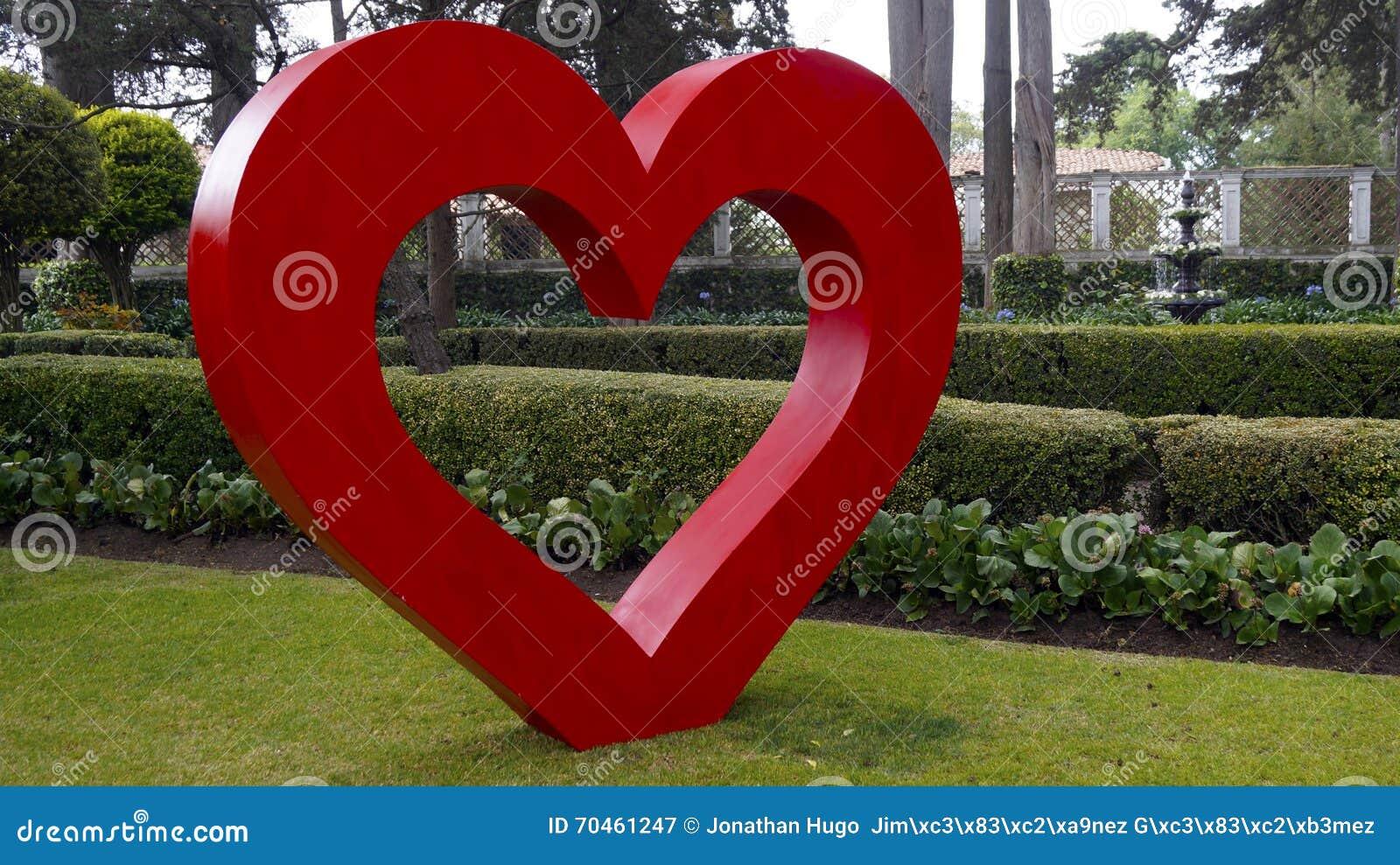 big heart garden decoration stock photo - image: 70461247