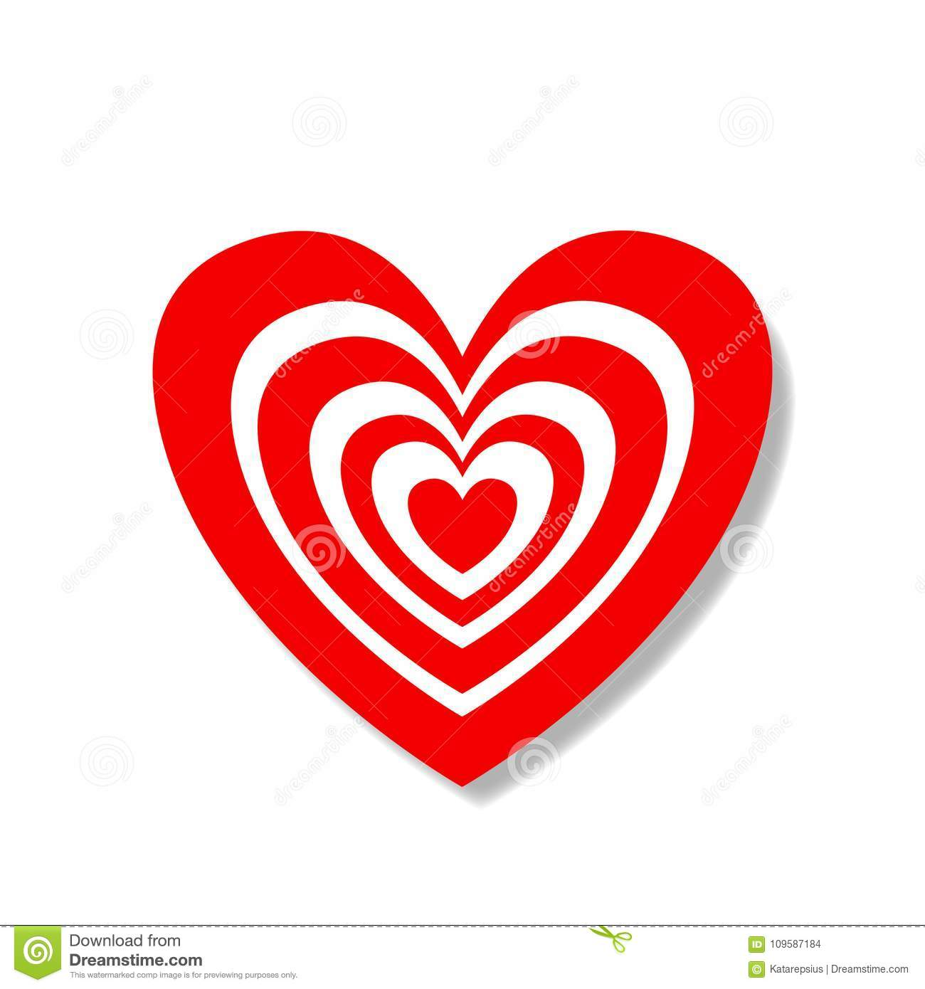 Big heart sticker with red and white target pattern stock vector big heart sticker with red and white target pattern buycottarizona Image collections