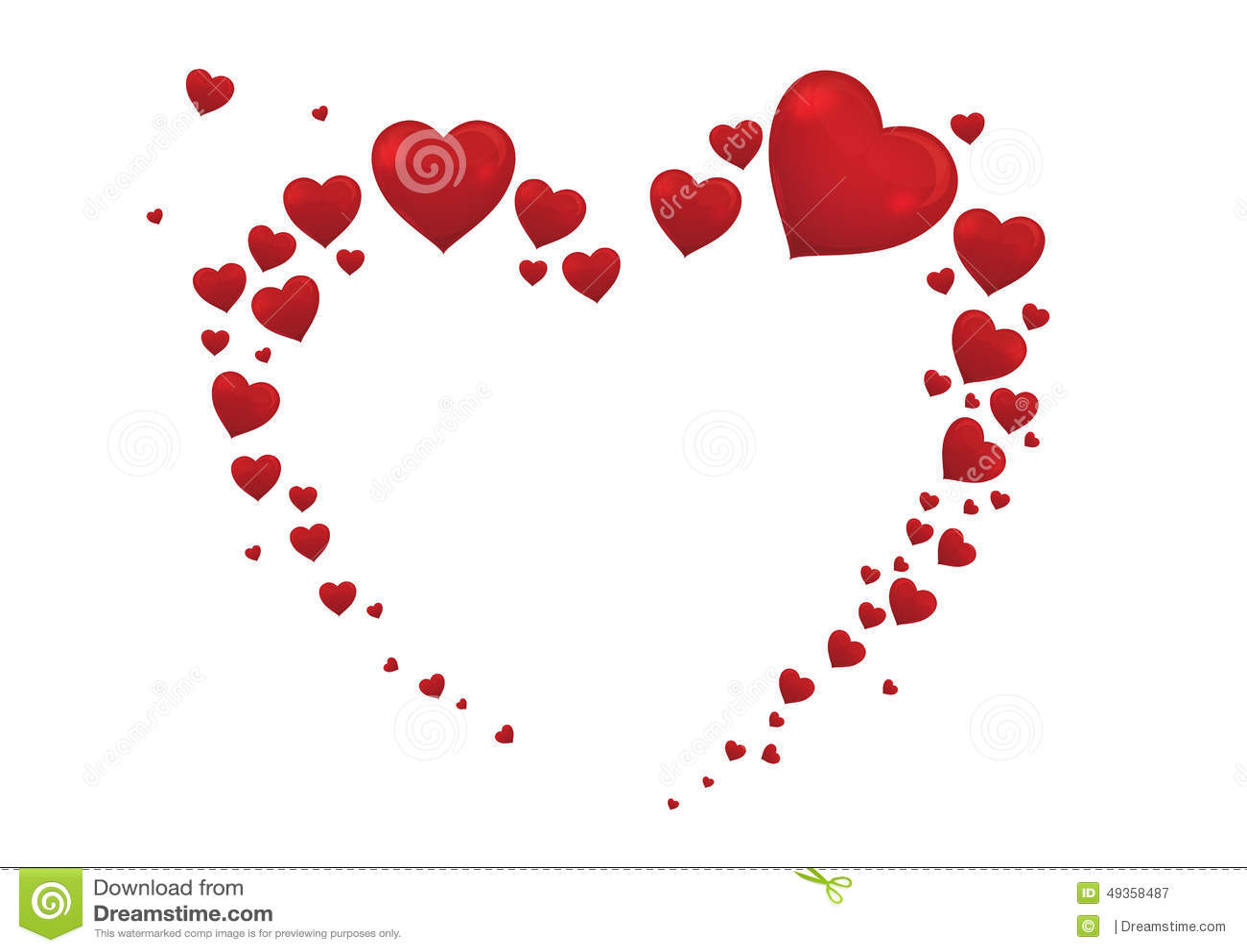 Big Heart Valentine Card Vector Vector Image 49358487 – Big Valentine Card