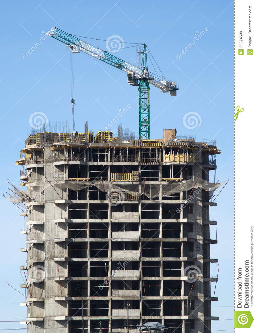 Big hoisting tower crane and construction building stock for What contractors are needed to build a house