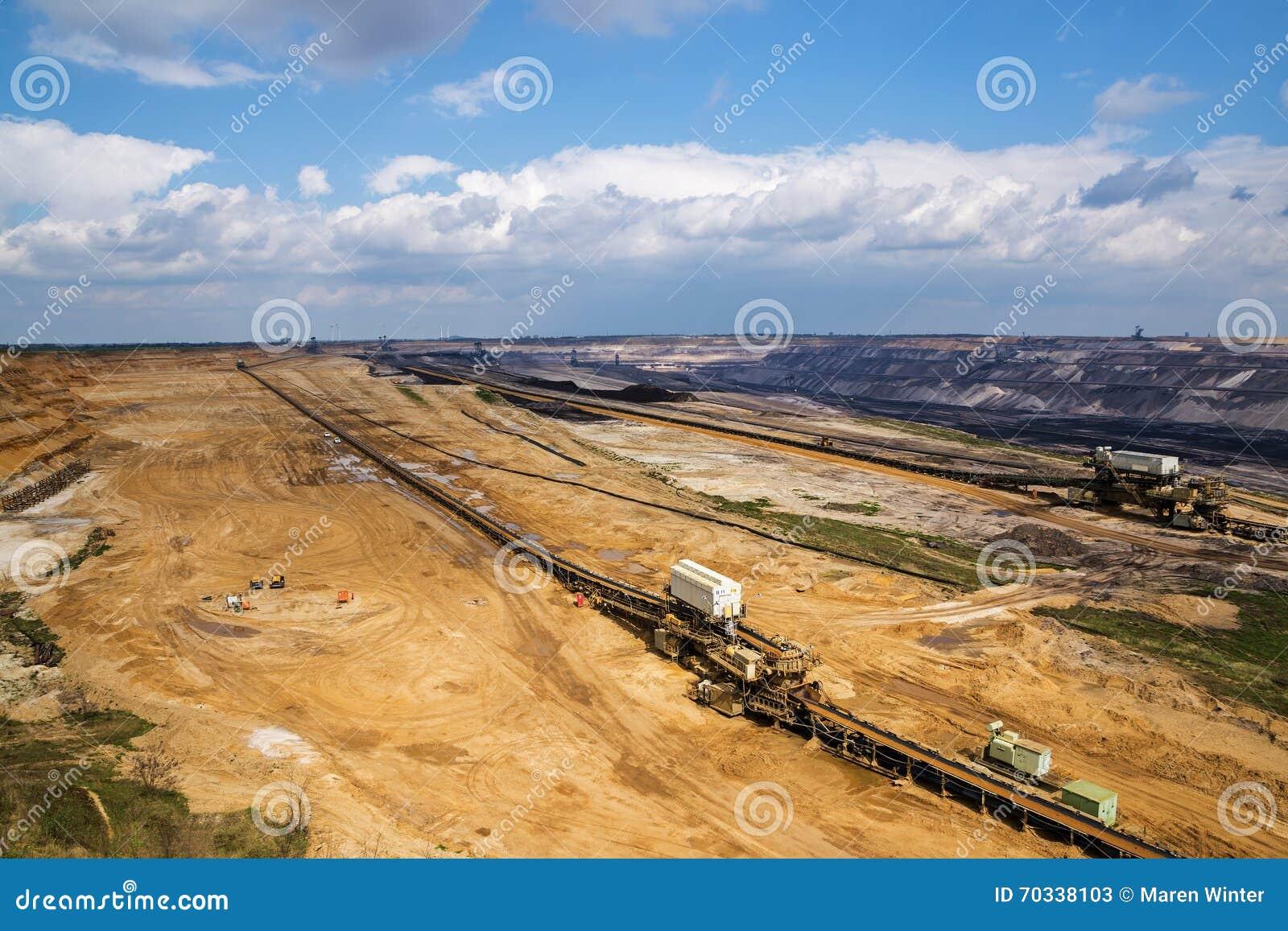 The big hole, lignite (brown coal) strip mining Garzweiler, Germ