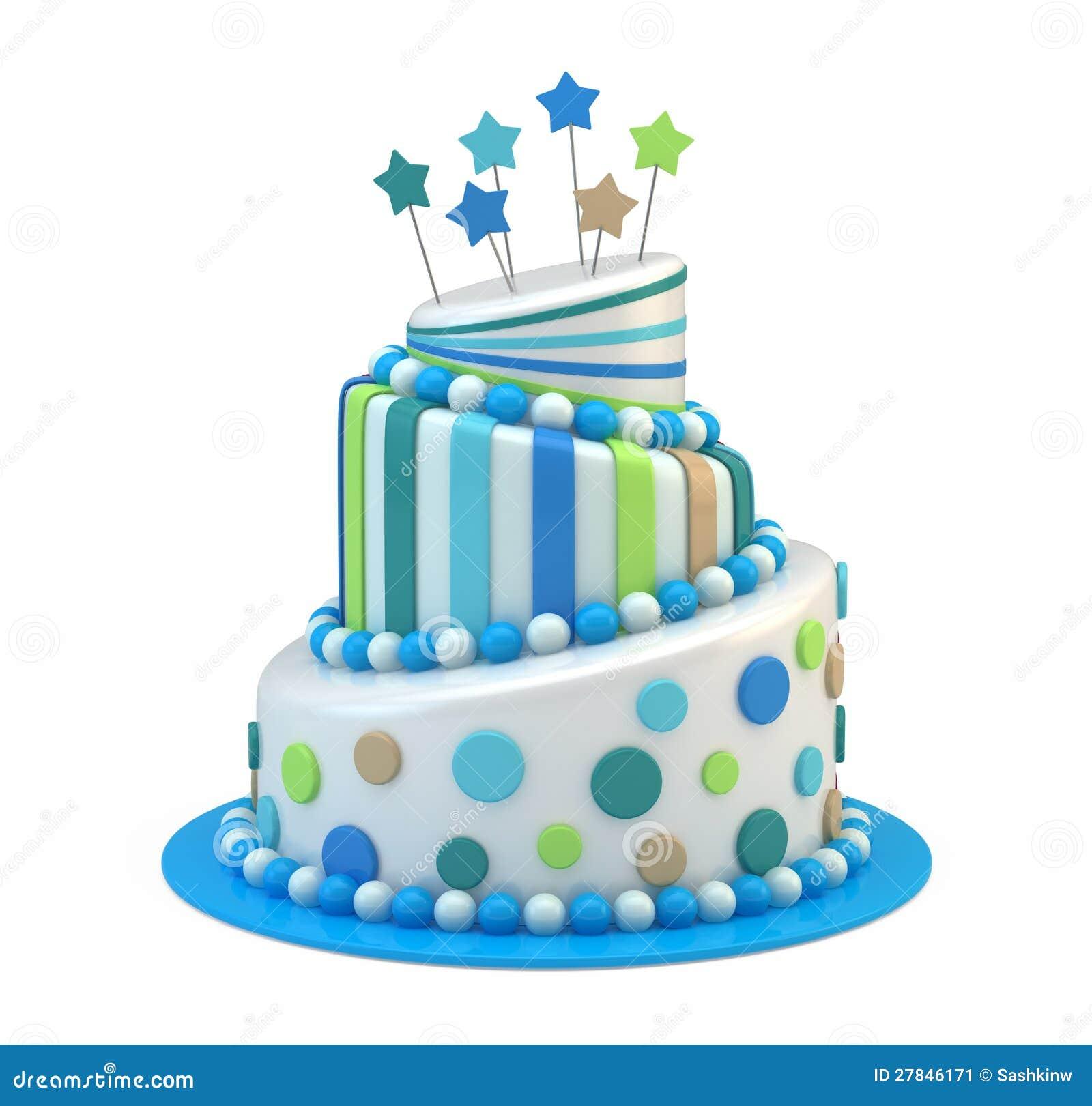 Big Holiday Cake Stock Illustration. Illustration Of