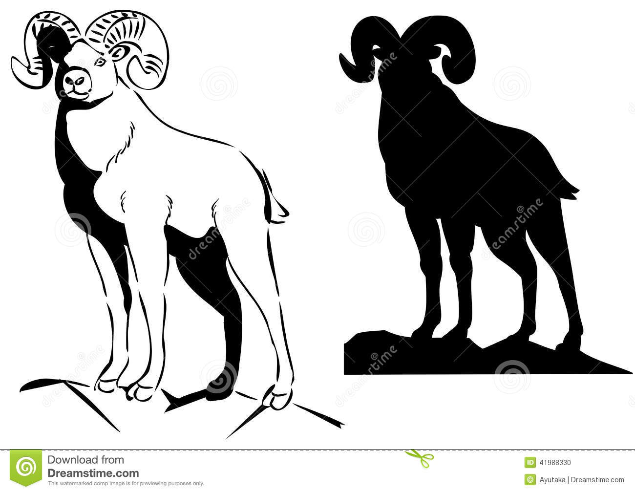 Big Horn Sheep Stock Vector - Image: 41988330