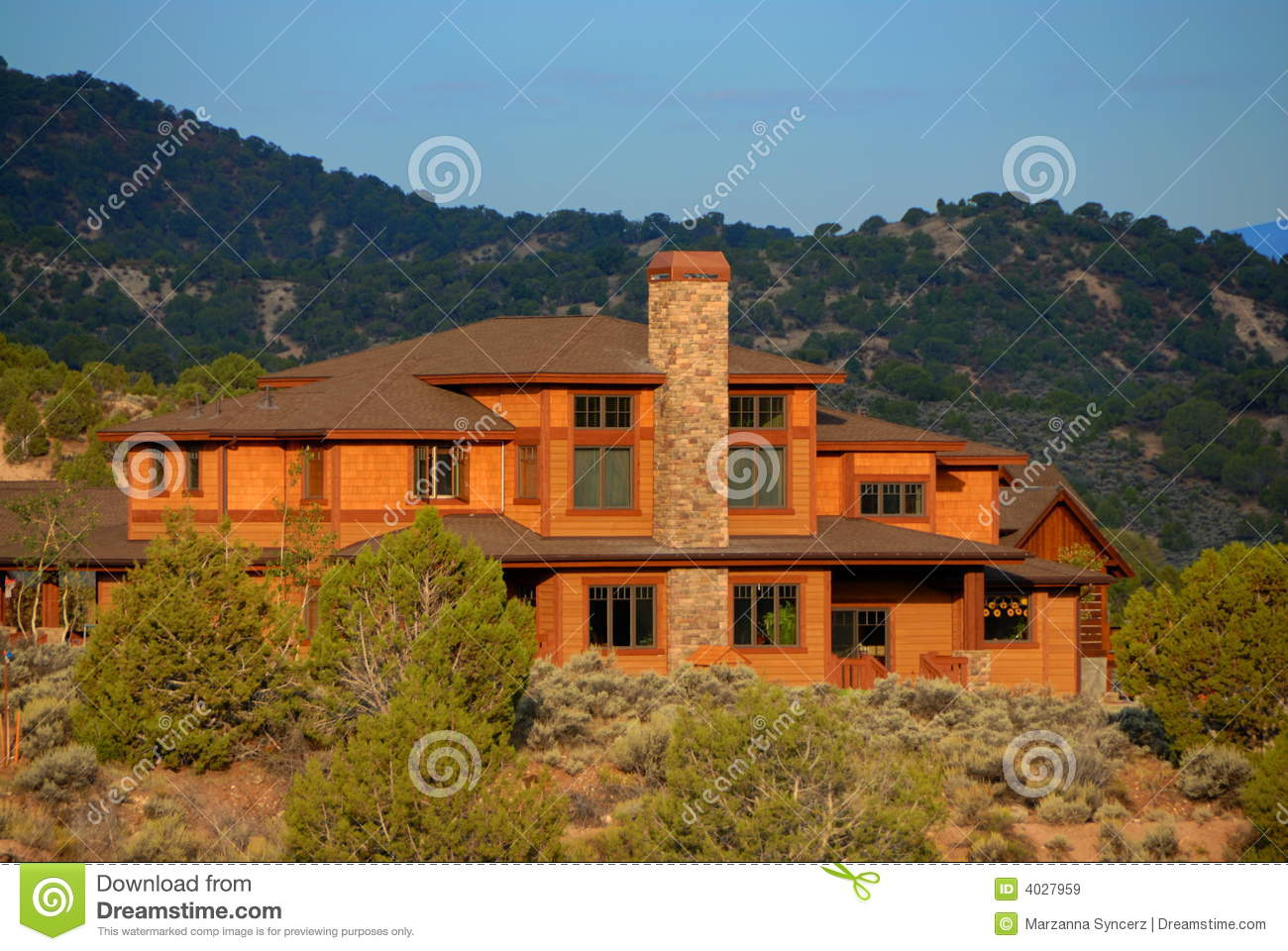 Big House In Colorado Royalty Free Stock Images Image