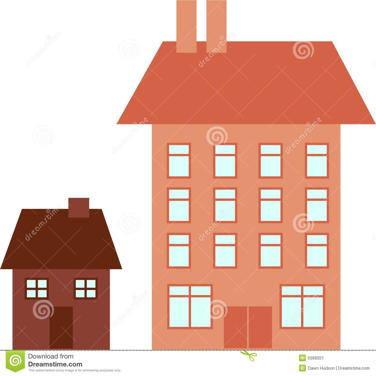Big House Little Stock Image Image 5566051