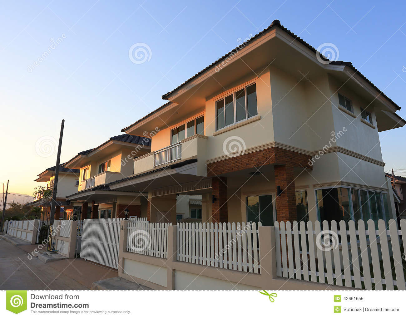 Big house modern style stock image image of property for Big house modern