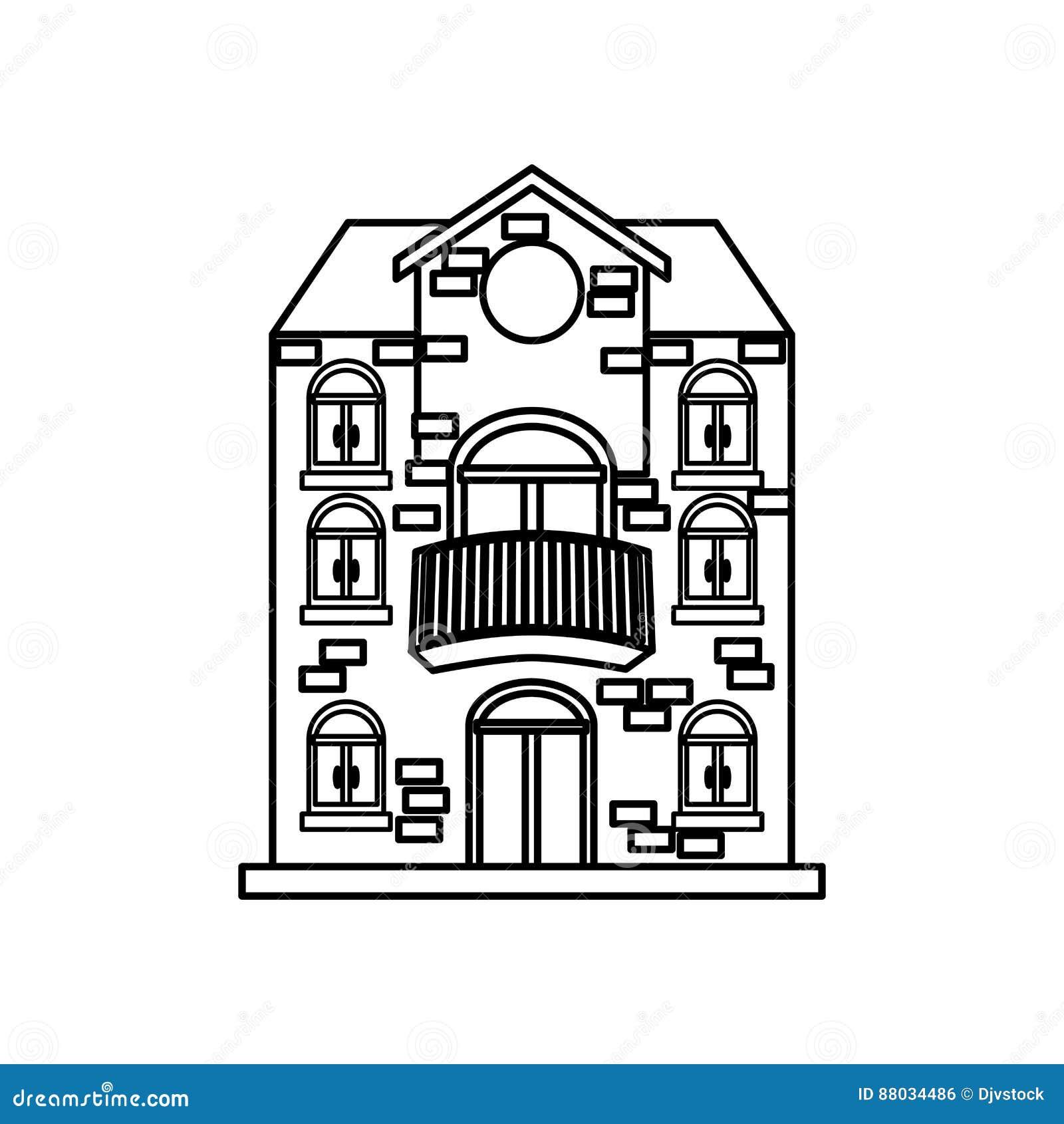 Big House Real Estate Stock Illustration Image Of Door