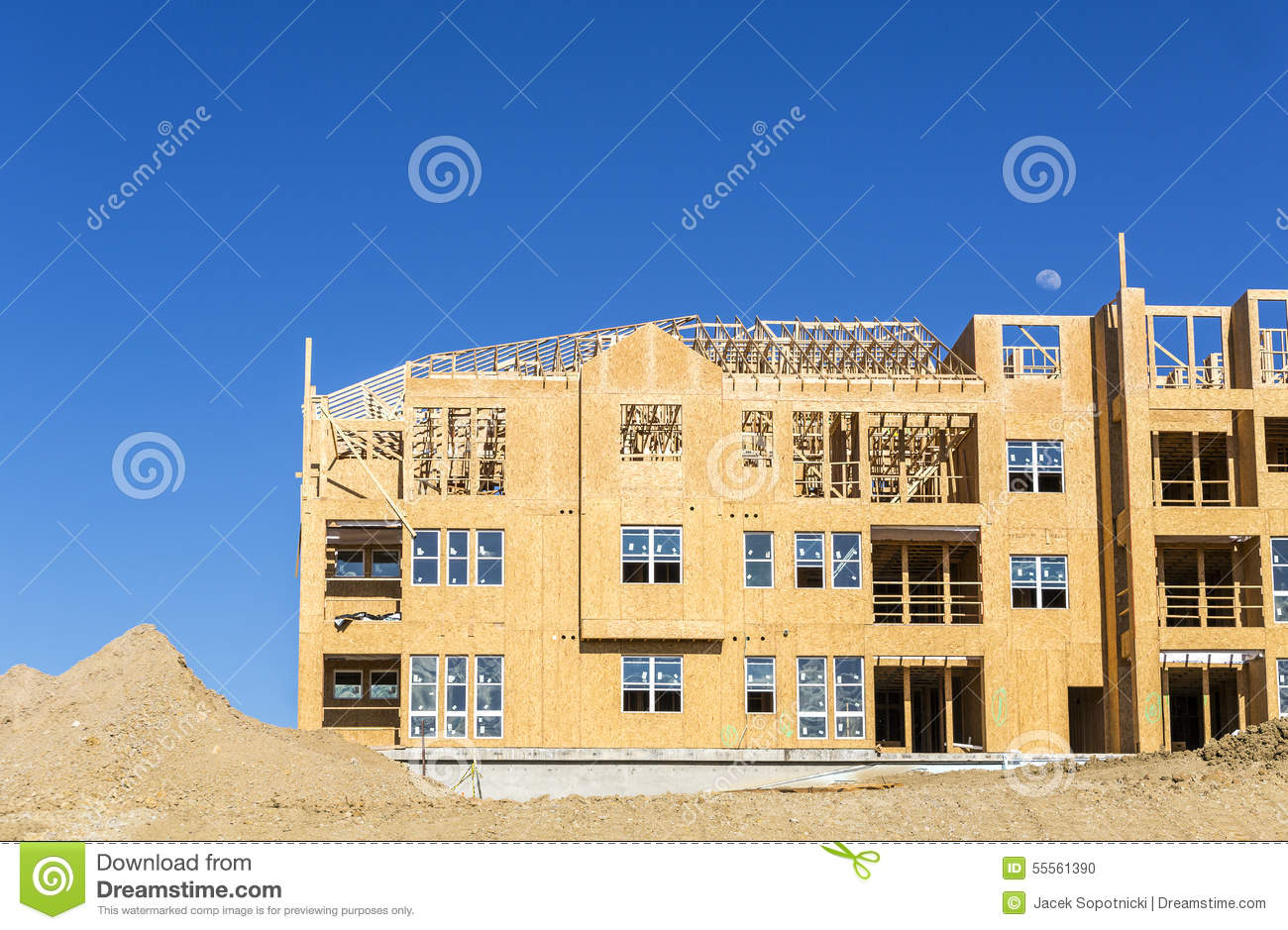 A Big New House Under Construction Royalty Free Stock