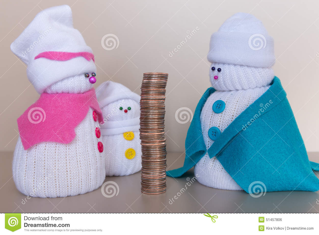 Big income of a snowmen family