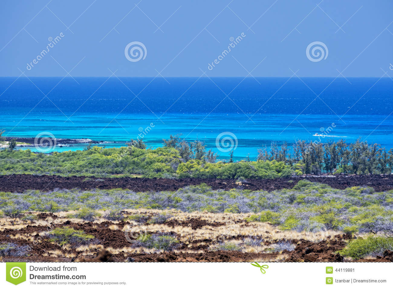Big Island Hawaii Lava And Sea Stock Photo - Image: 44119881