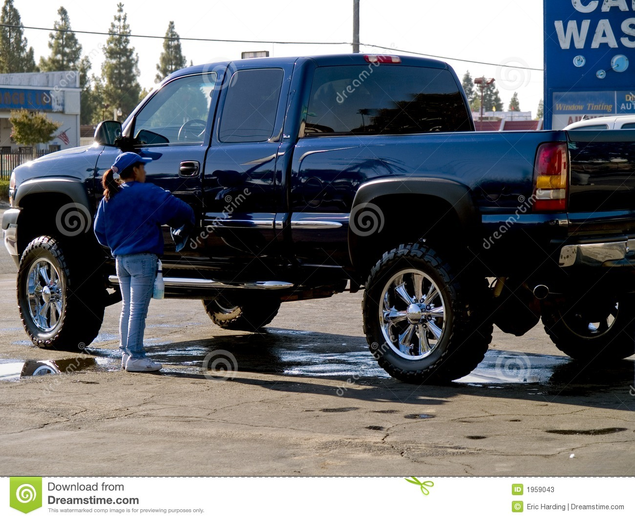 Large Truck In A Car Wash