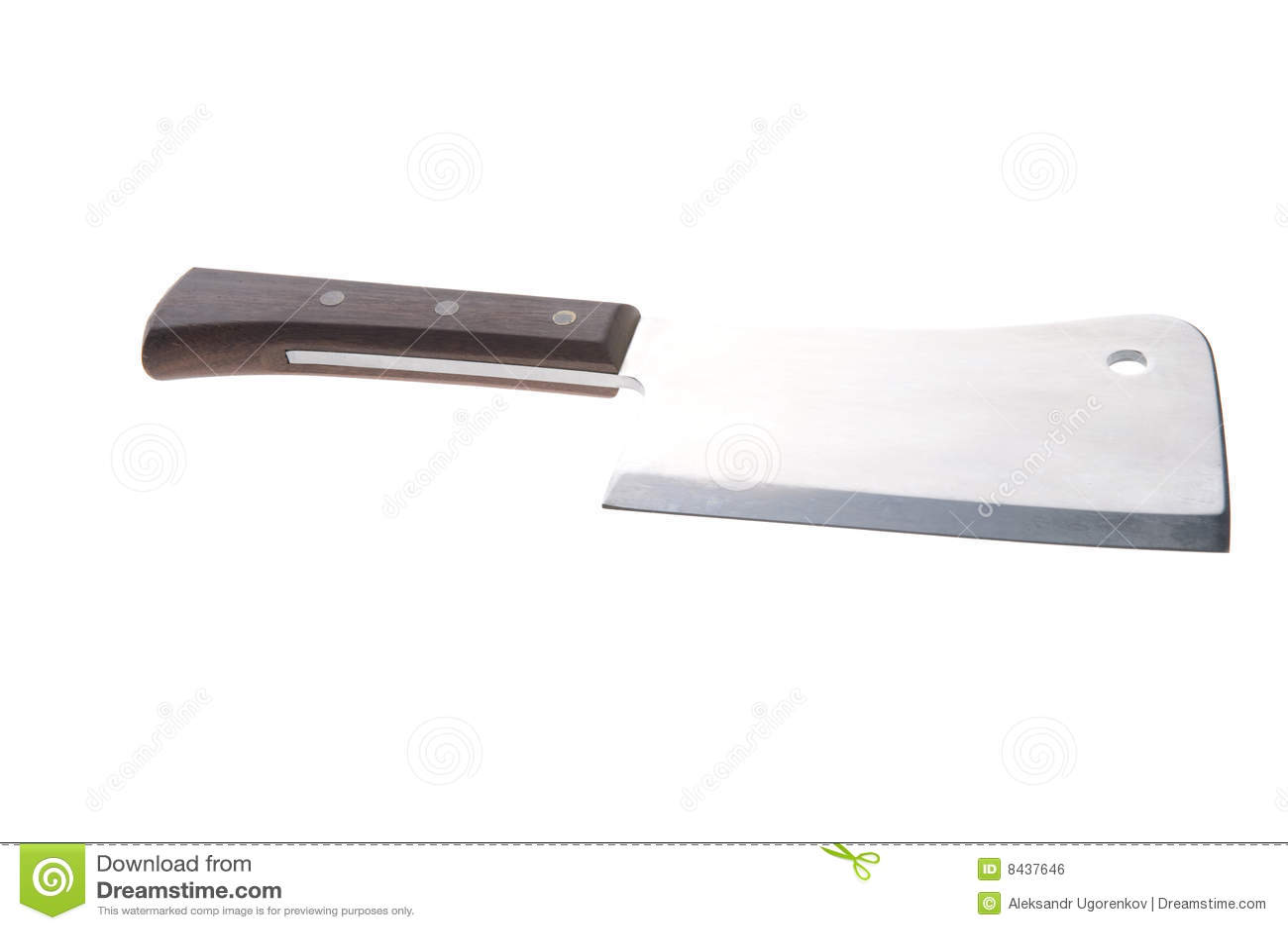 Big kitchen knife on white