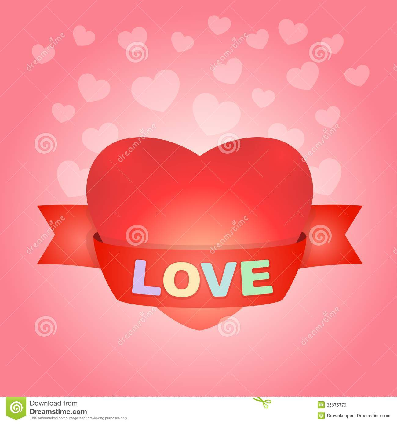 Big love heart on pink stock vector illustration of beauty 36675779 big love heart on pink buycottarizona Image collections