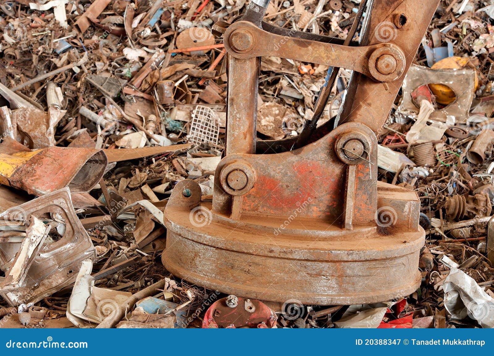 big magnet stock image image of magnet dumped metal 20388347