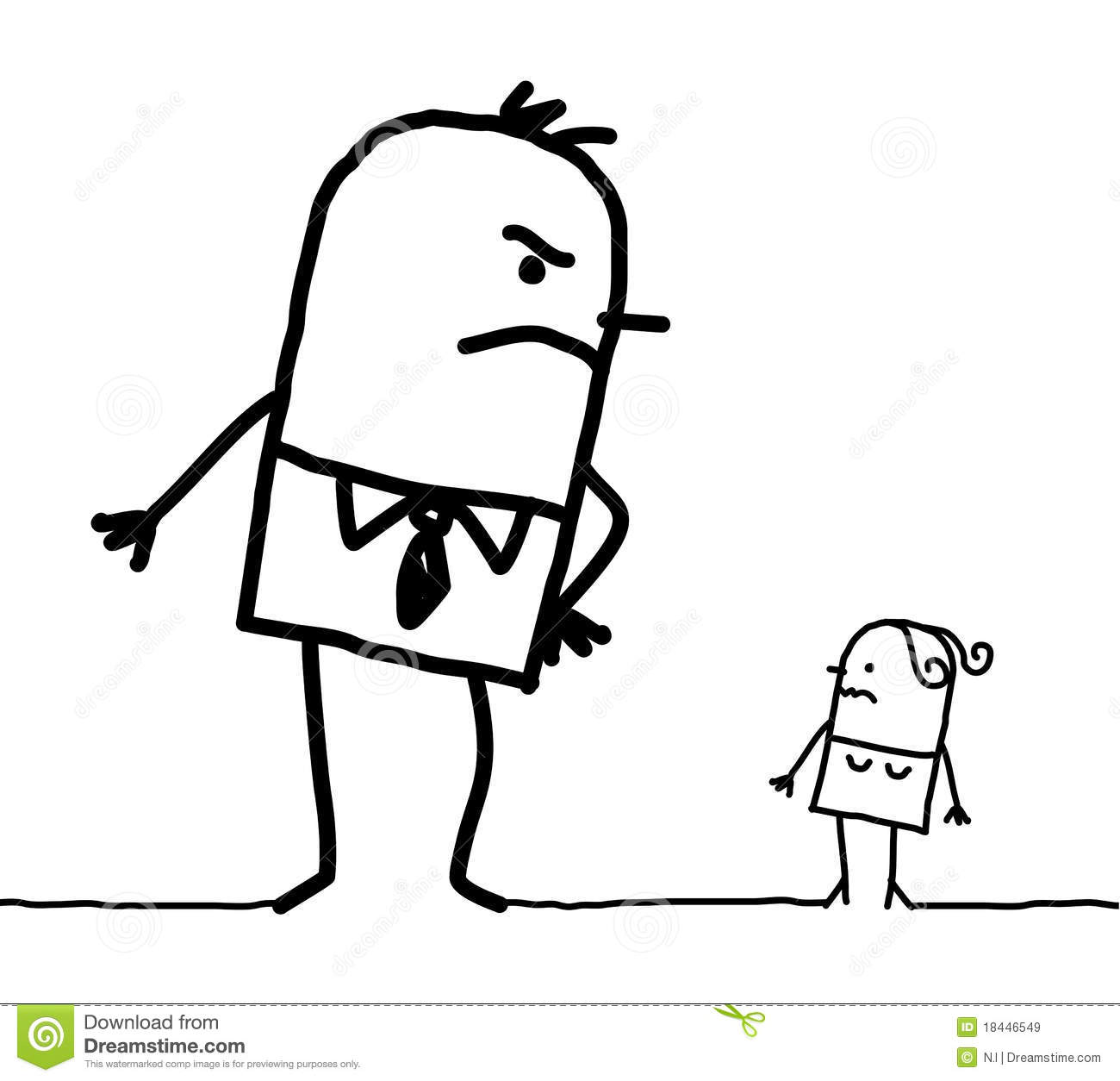 Big Man & Small Woman Royalty Free Stock Image