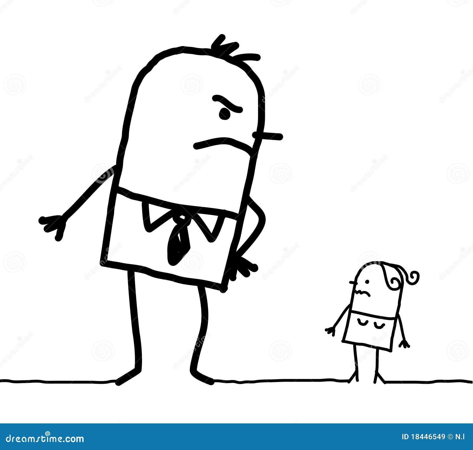 Big Man & Small Woman Royalty Free Stock Image