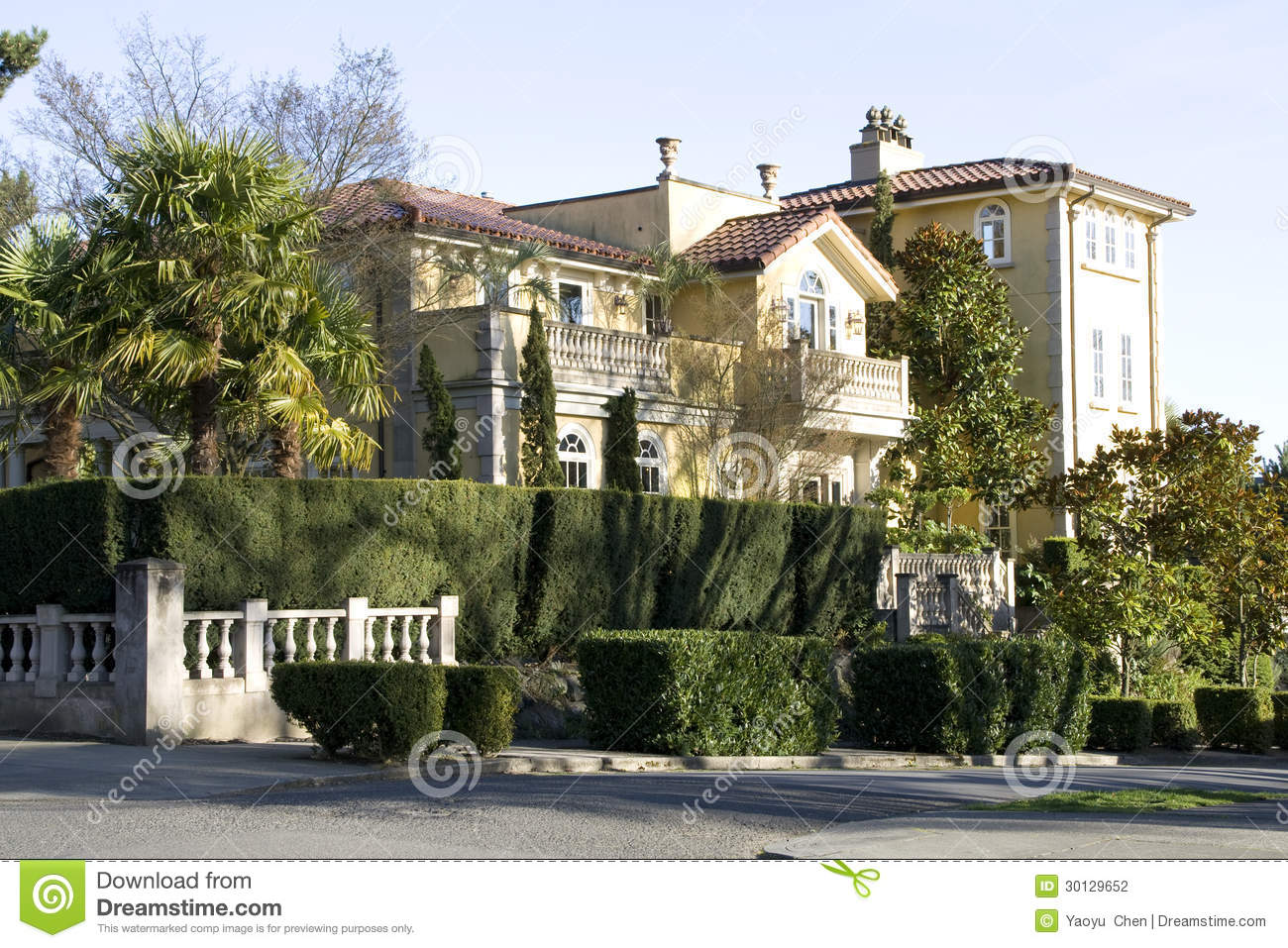 Big Mansion House Seattle Stock Photography Image 30129652