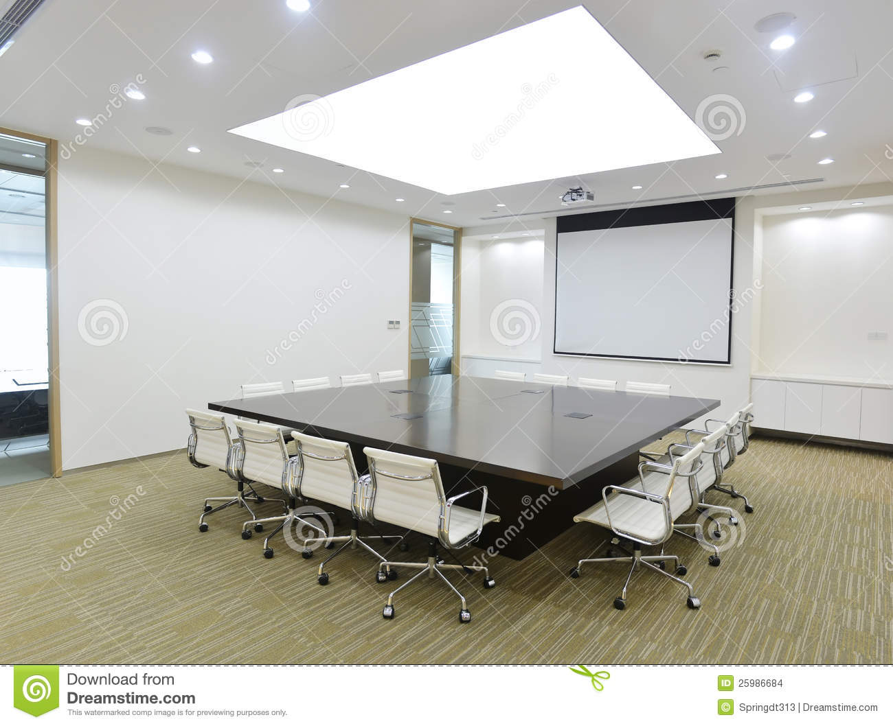 Asian Woman In Power In Conference Room