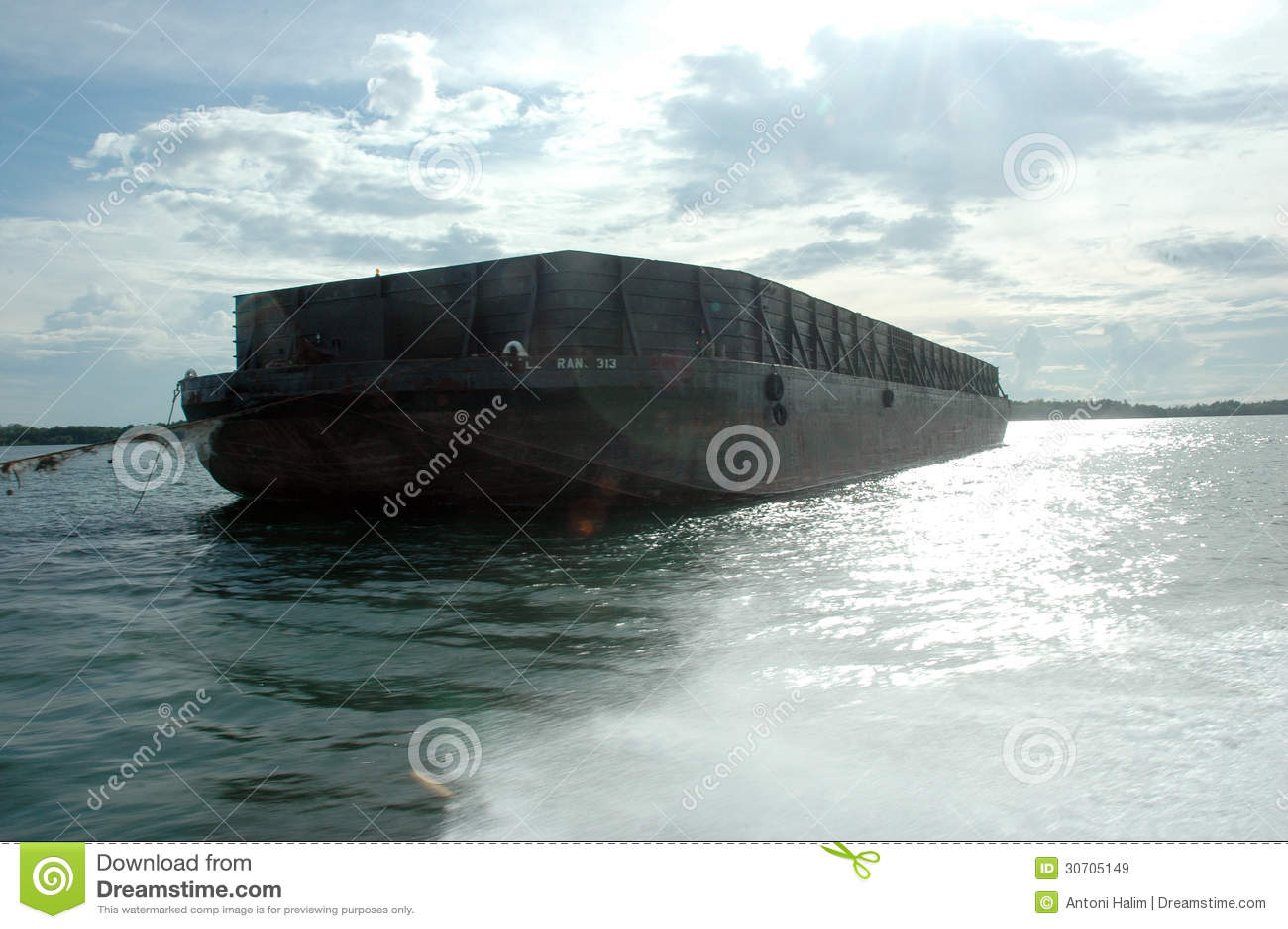 Big Metal Boat Pontoon Royalty Free Stock Images - Image: 30705149