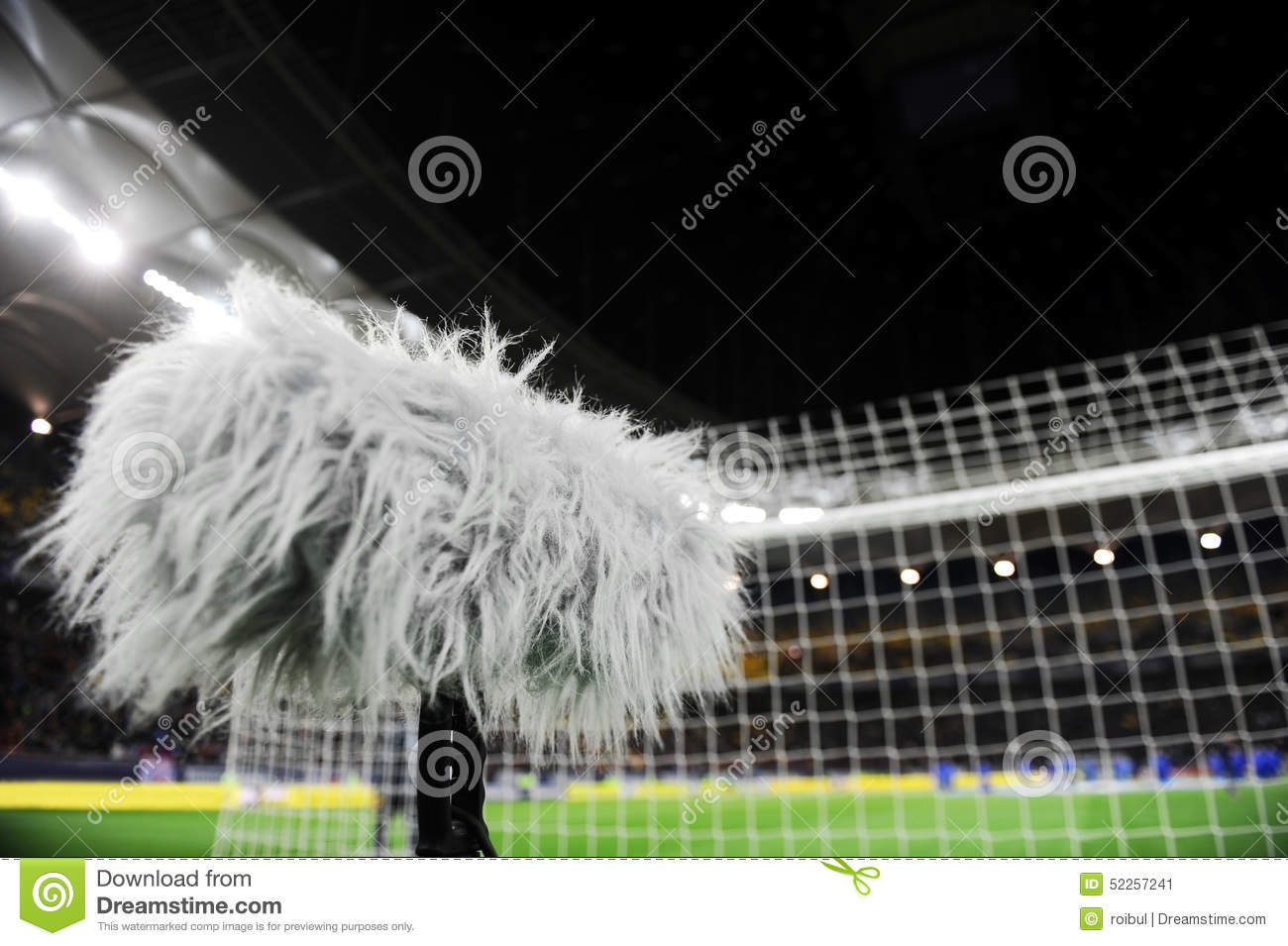 d63bce3e8 Big Microphone On Sport Arena Stock Image - Image of ground, detail ...