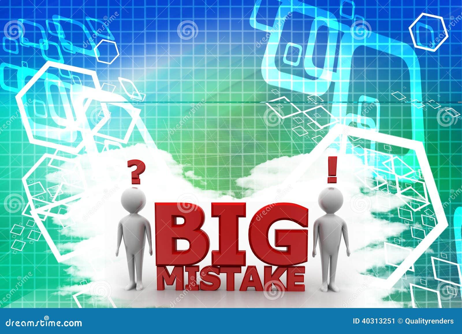 Big Mistake Illustration With Human Illustration Stock
