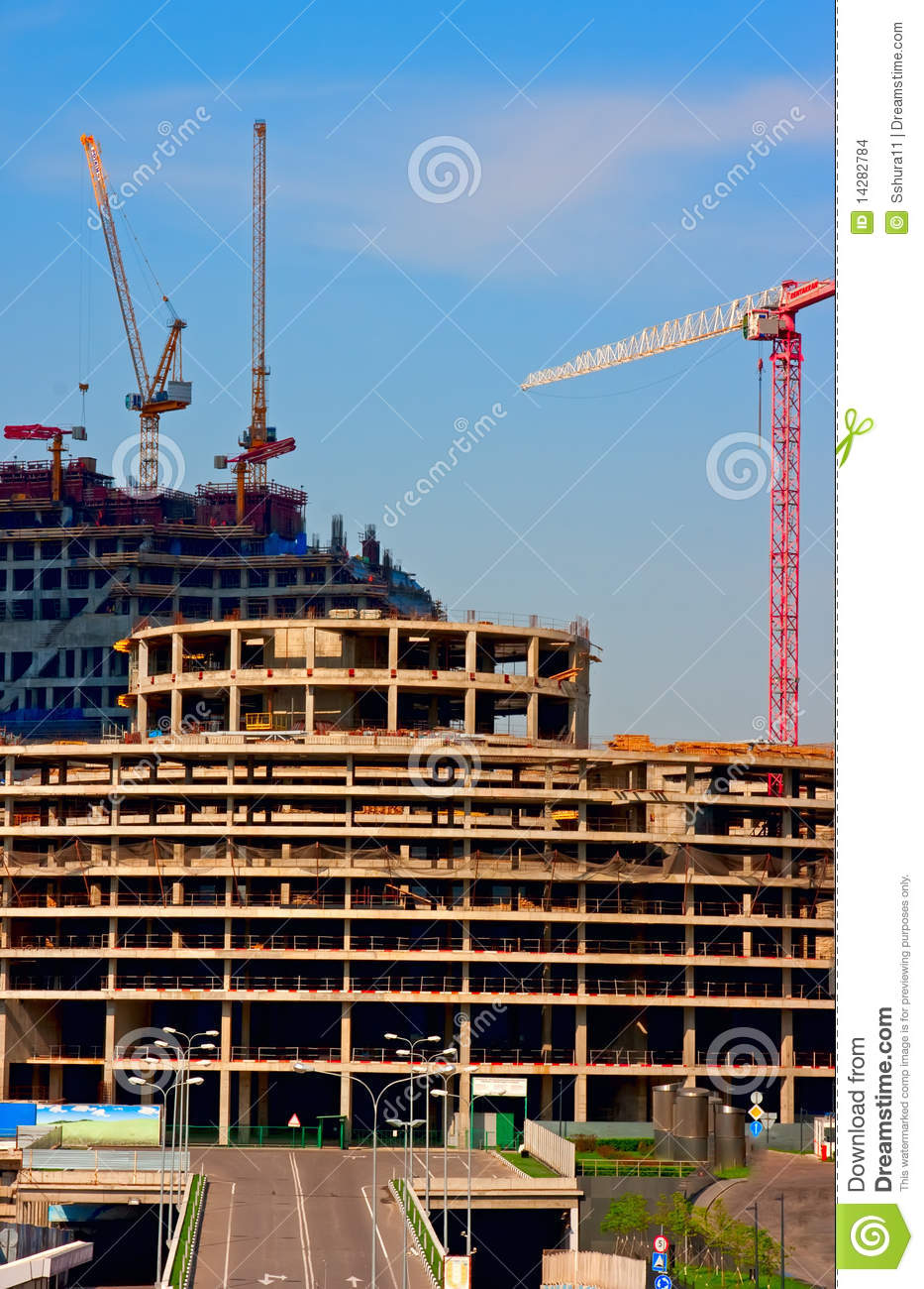 Big modern building construction stock images image for Modern building construction