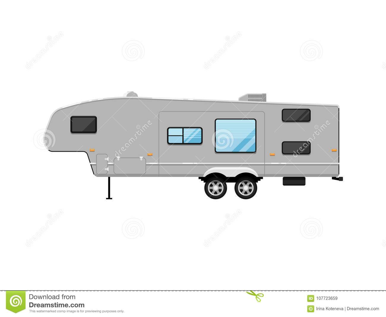 Big Modern Travel Trailer Isolated On White Icon Stock Vector ... on nashua nh homes, country mountains, country decks, country modular homes, country land, country texas homes, cabin style homes, country collectibles, country louisiana homes, country style homes, simple small country homes, country windows, country cars, small trailer homes, prefab country homes, country fencing, country houses, manufactured log homes, country real estate, country landscaping,