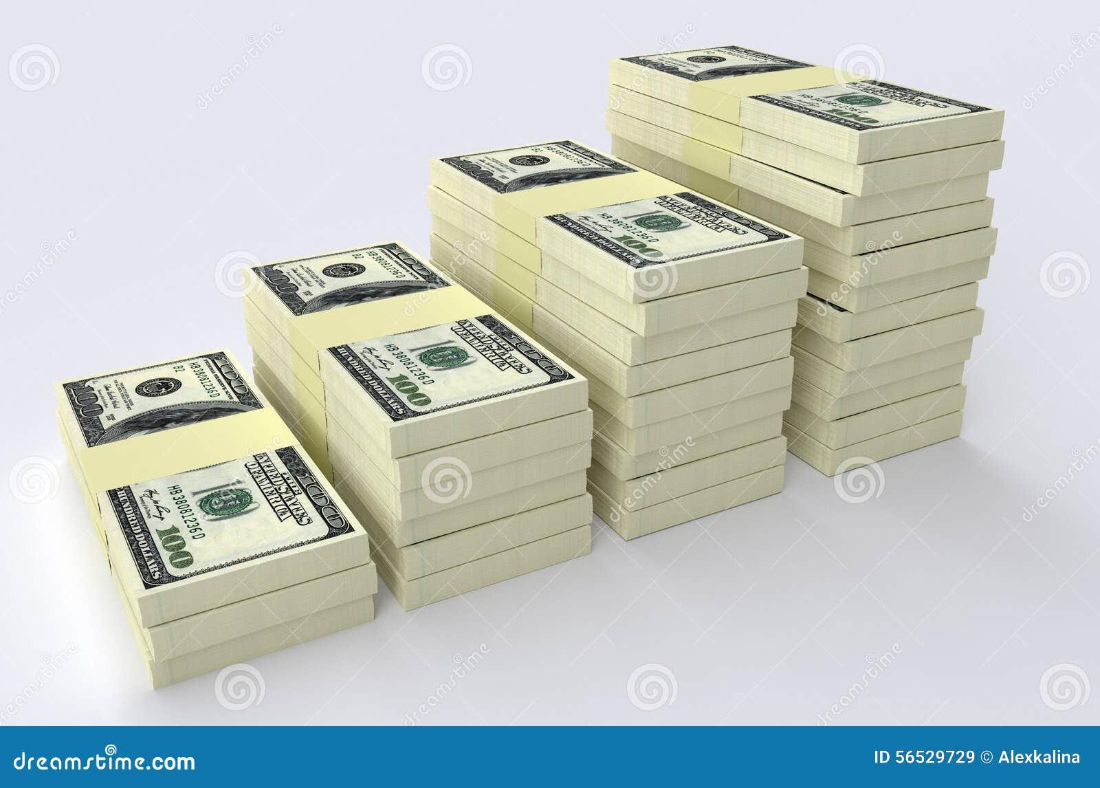 Big money stack. Finance concepts