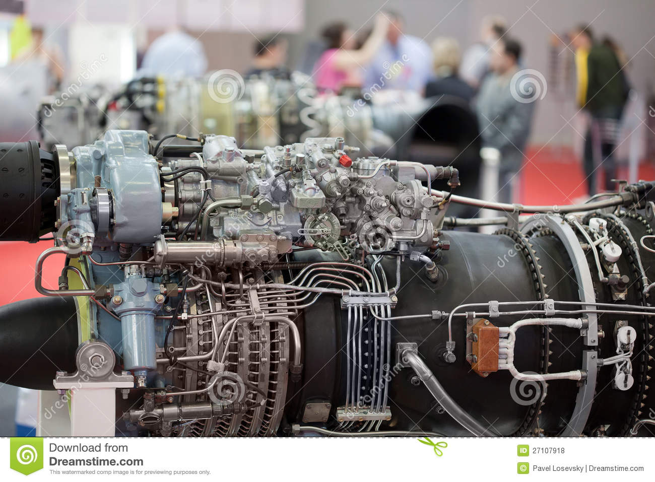 Big Motor Of Helicopter On Exhibition Royalty Free Stock