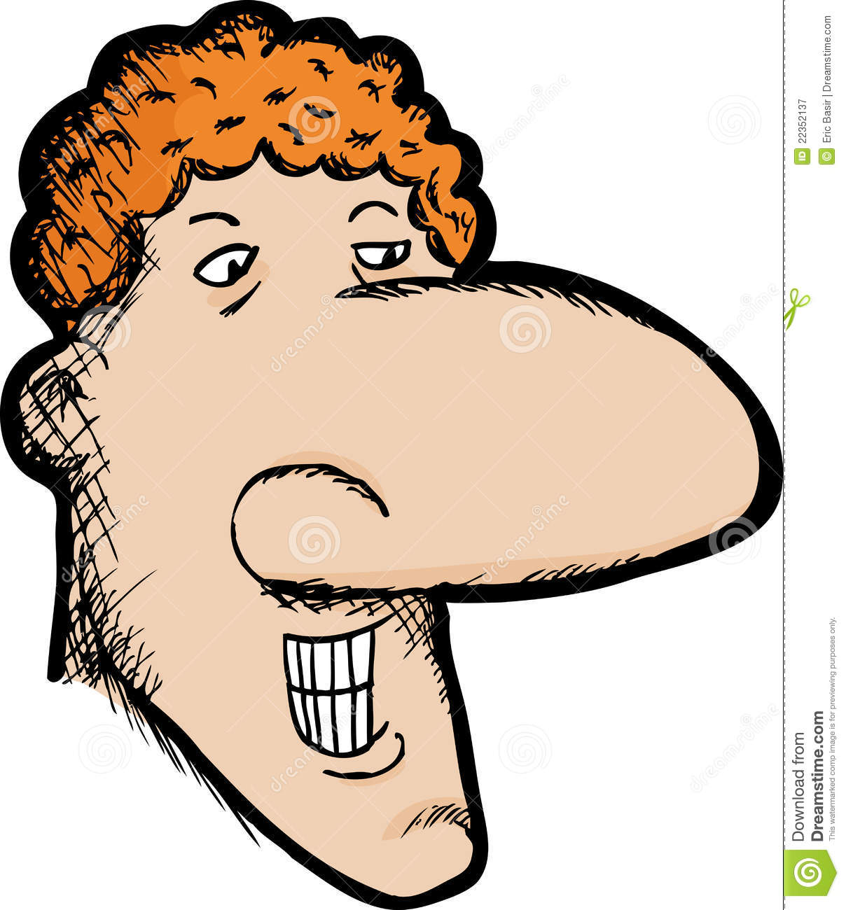 Cartoon Characters With Big Noses : Big nose royalty free stock photography image