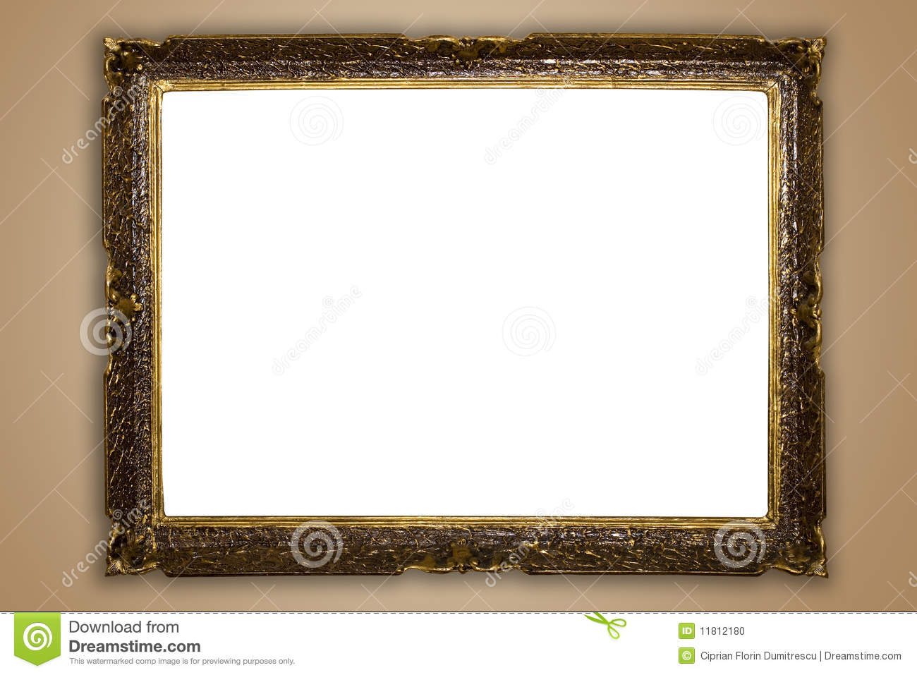 Big old frame stock photo. Image of ornament, interior - 11812180