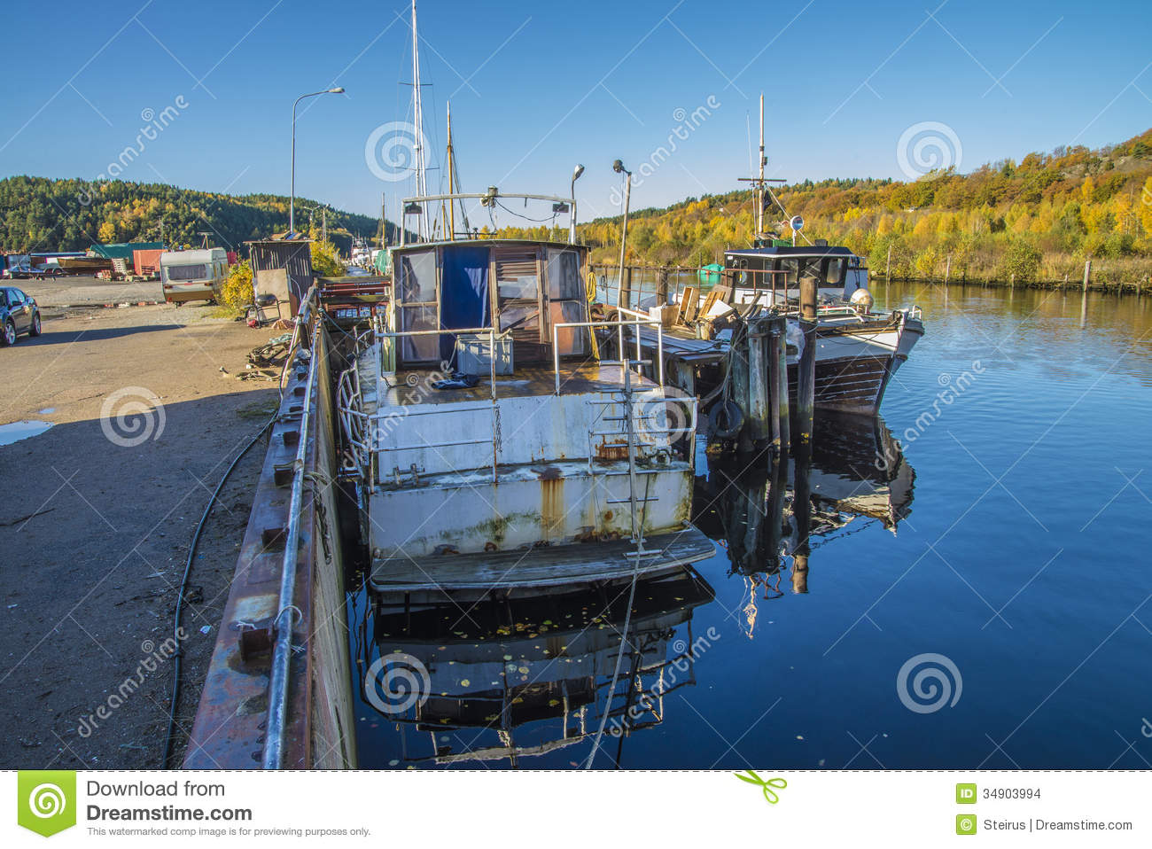 Big Old Rusty Steel Boat Stock Images - Image: 34903994