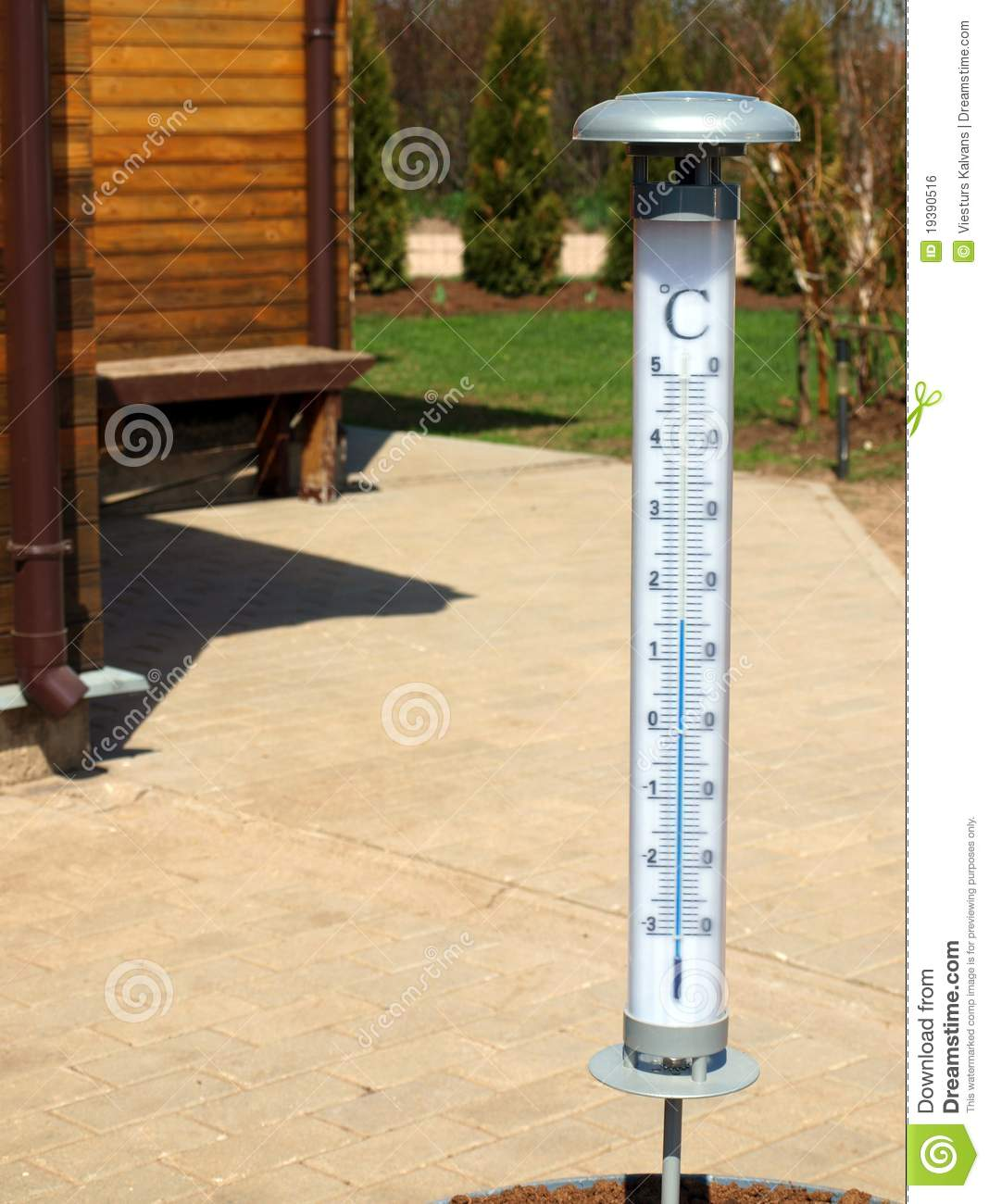 Big outdoor thermometer royalty free stock image image for Thermometres exterieurs