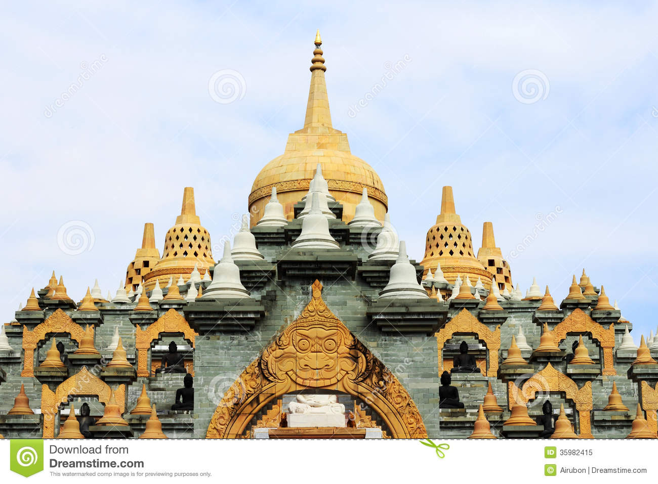 big pagoda in thailand stock image  image of design  culture