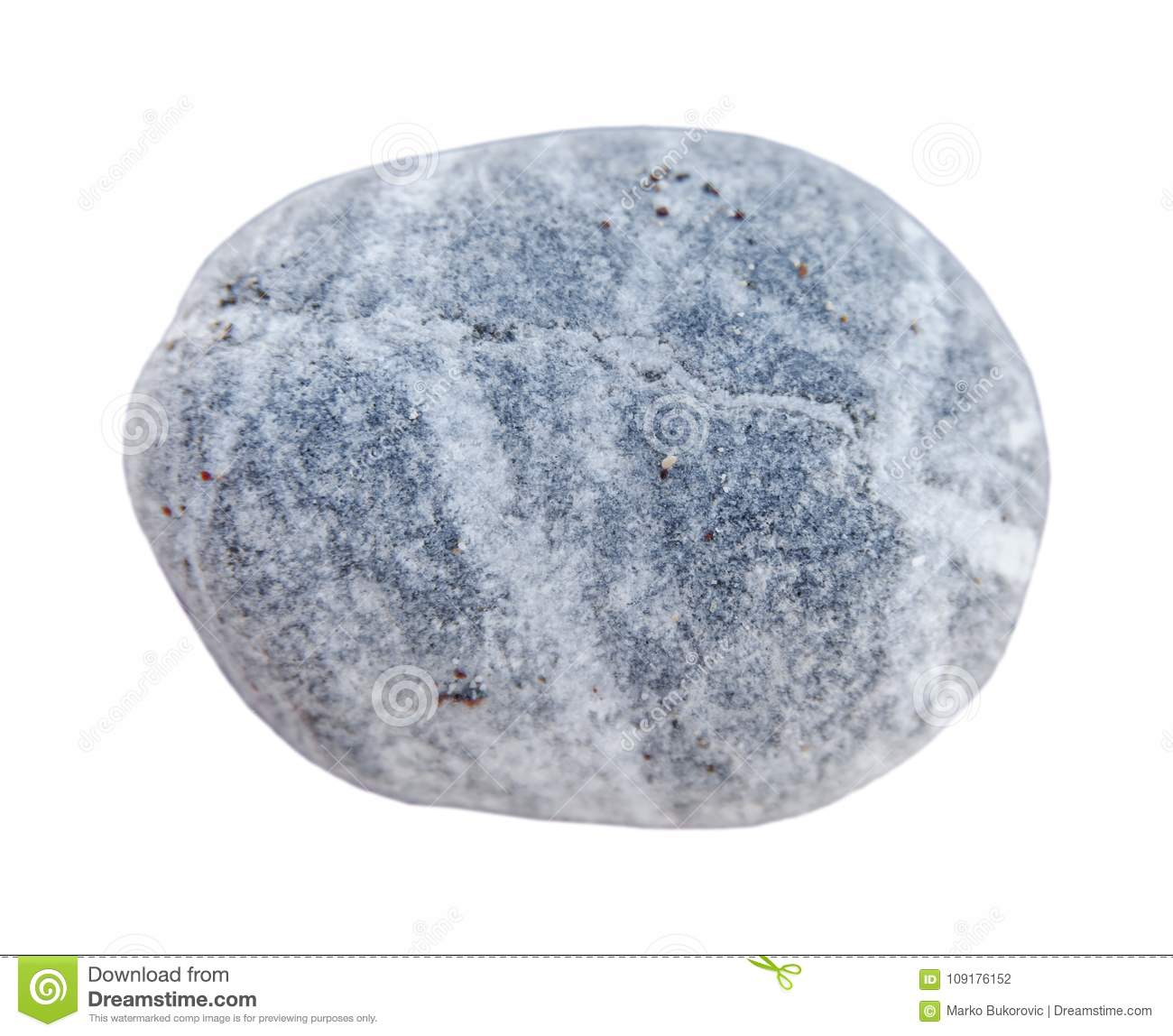 Big Pebble Stone From Beach Isolated On White Background