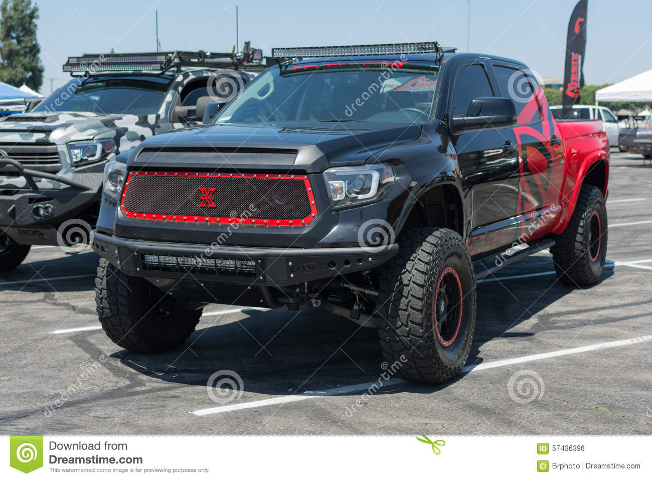 Editorial stock photo download big pick up truck