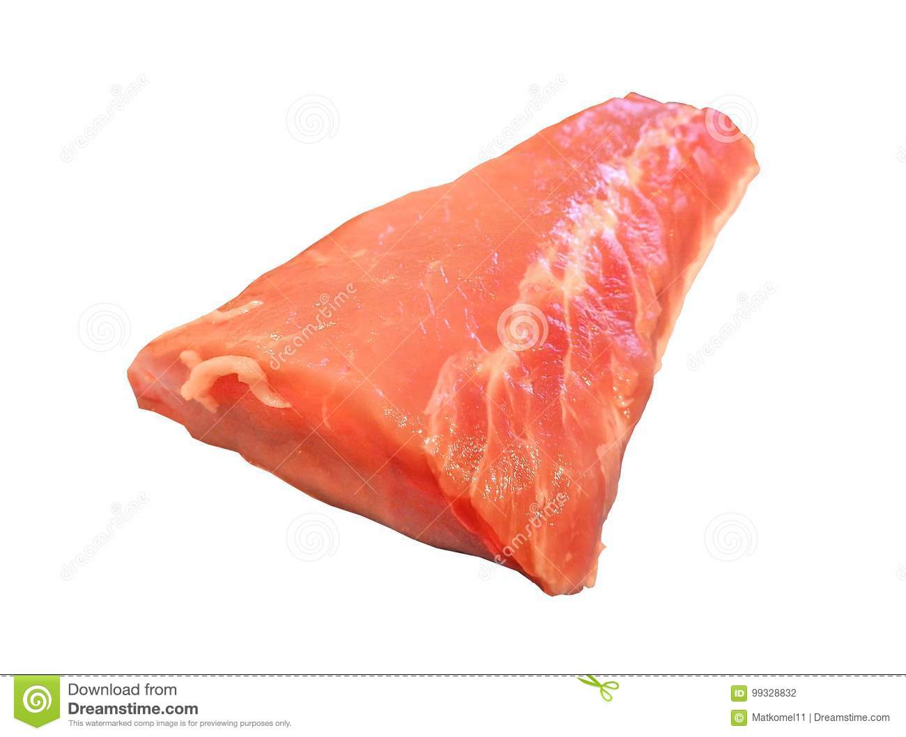 Pork meat on the white background